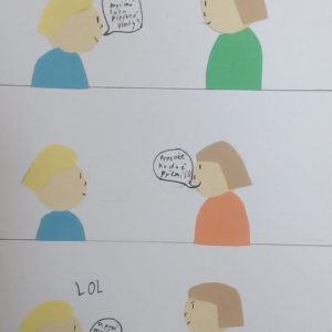 Komiks z barevného papíru