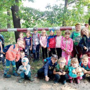 1. třída v lese za deblínským rybníkem