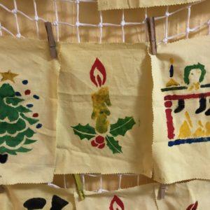 Vánoční prostírky různých obrázků