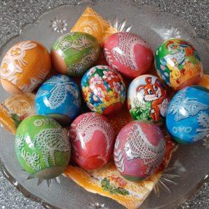 krásně ozdobená vajíčka